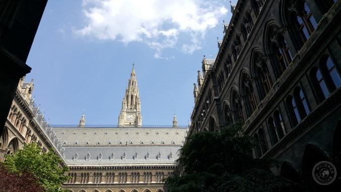 Patio interior del Ayuntamiento de Viena.