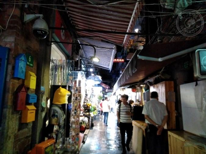 Una de las callejuelas en Tianzi Fang. Shanghái.
