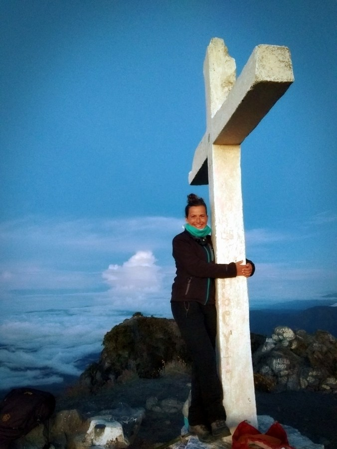 Panamá. En la Cruz del Volcán Barú.
