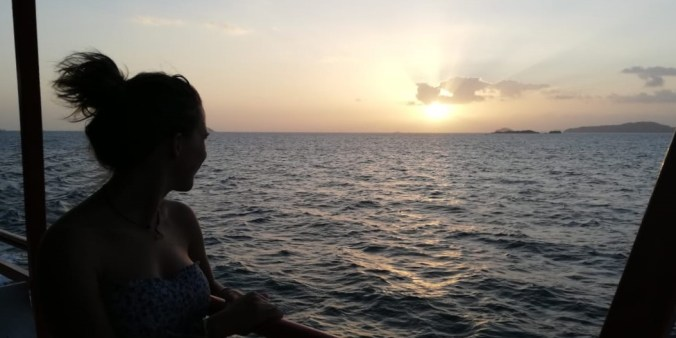 Panamá. Llegando a la isla de Taboga.