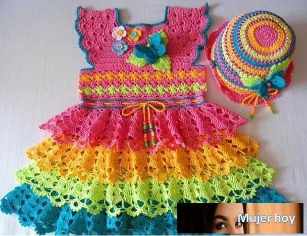 Vestido niña colores