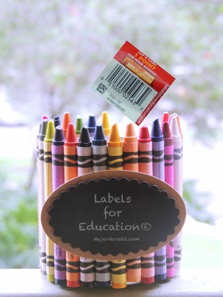 #1Millon4Edu, Labels for Education®