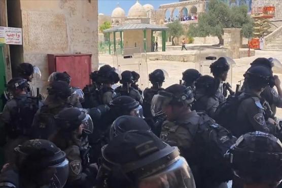 یہودیوں کی جانب سے توہین ِ رسالت کے خلاف فلسطینیوں کے احتجاجی مظاہرے
