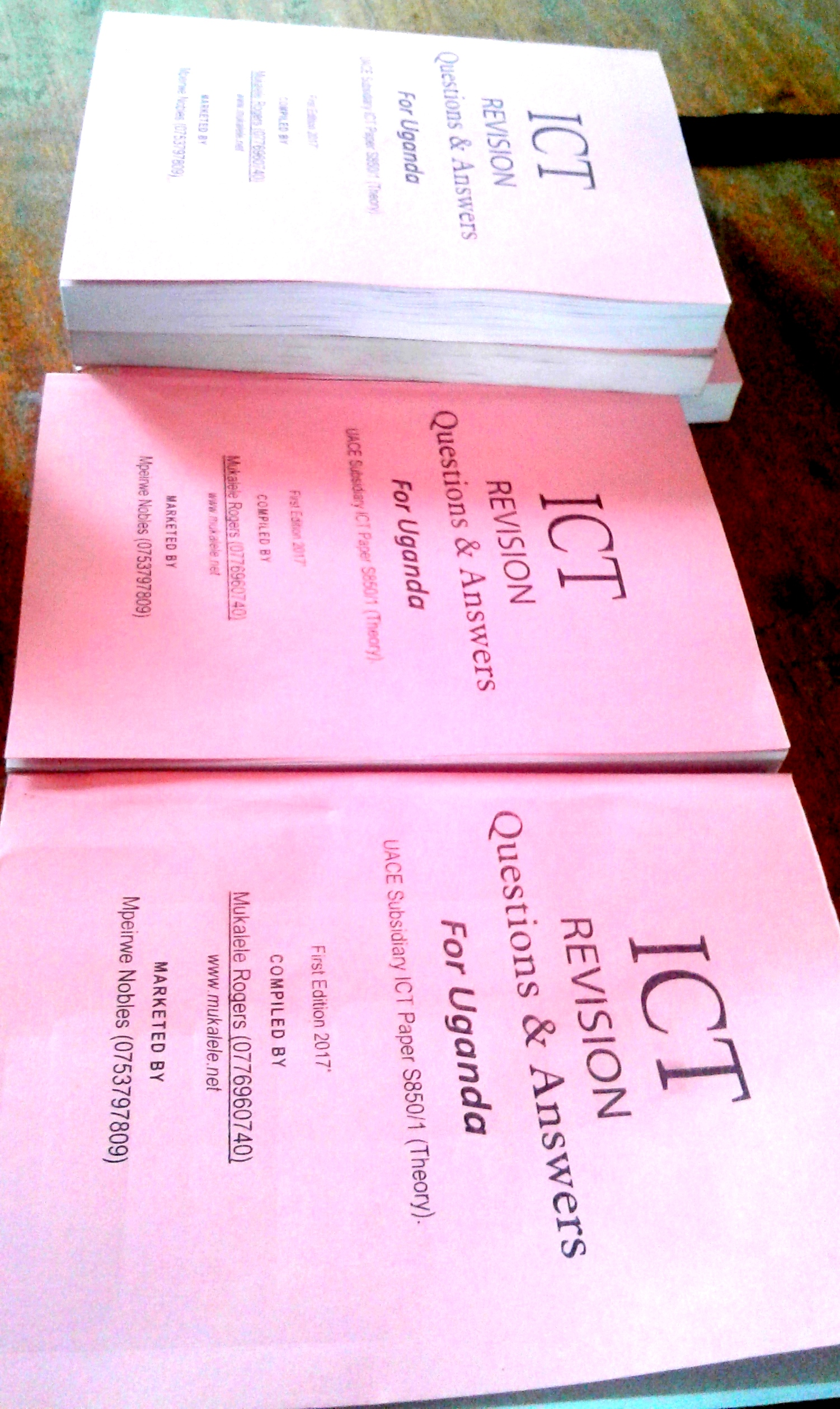 ICT Revision Questions and Answers for Uganda Booklet 2nd Edition 2018. 🔍.  $3.00