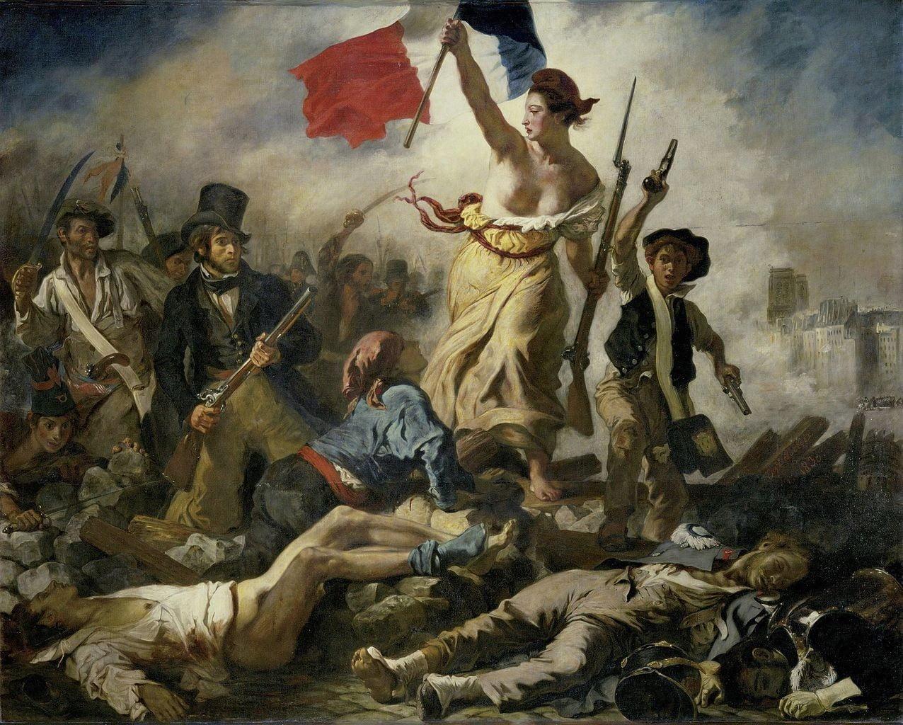 Eugene Delacroix Halka Yol Gosteren Ozgurluk