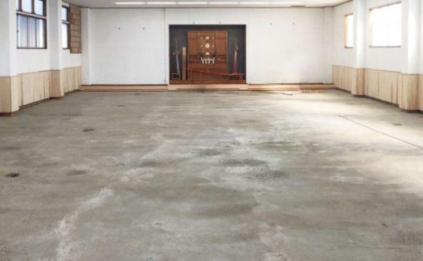 山梨県で剣道場床改修工事がはじまります。
