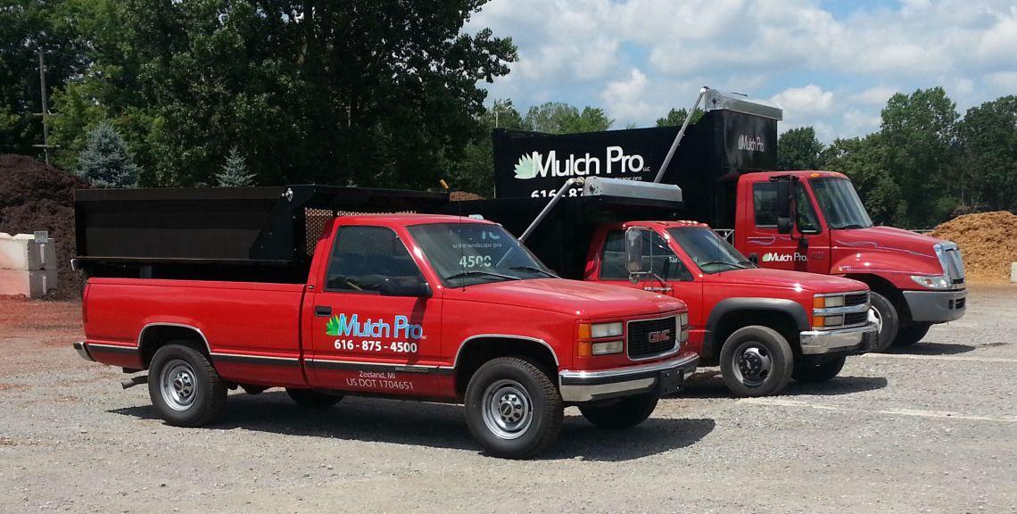 Mulch Pro Delivery Trucks