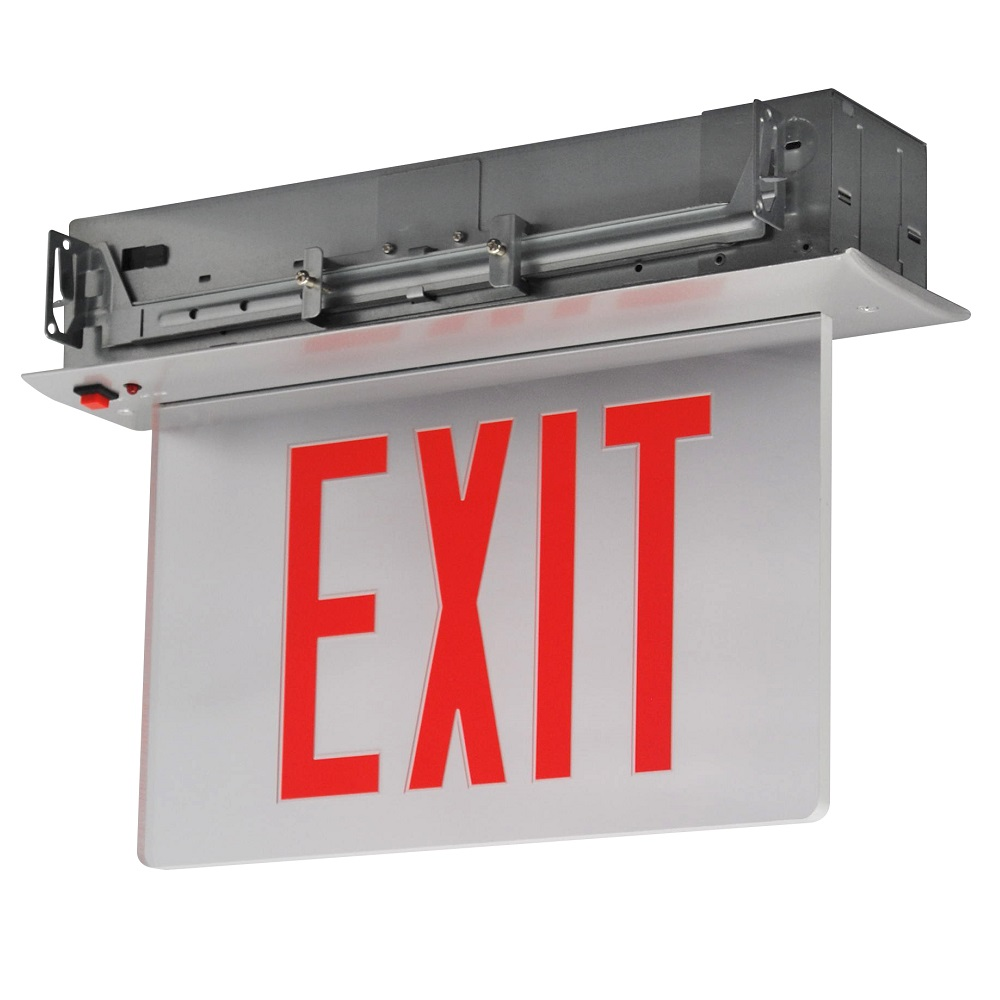 Mule Lighting - Renaissance Series – Recessed Mount Mule Lighting CEL Recessed Exit Sign
