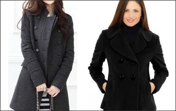 Casaco e casaqueto de lã escura