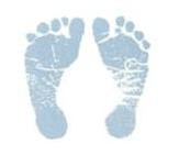 Pezinho de bebê azul