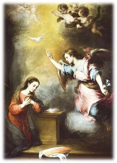 """""""A Anunciação"""" (pintura de B. Esteban Murillo, 1665-1670)"""