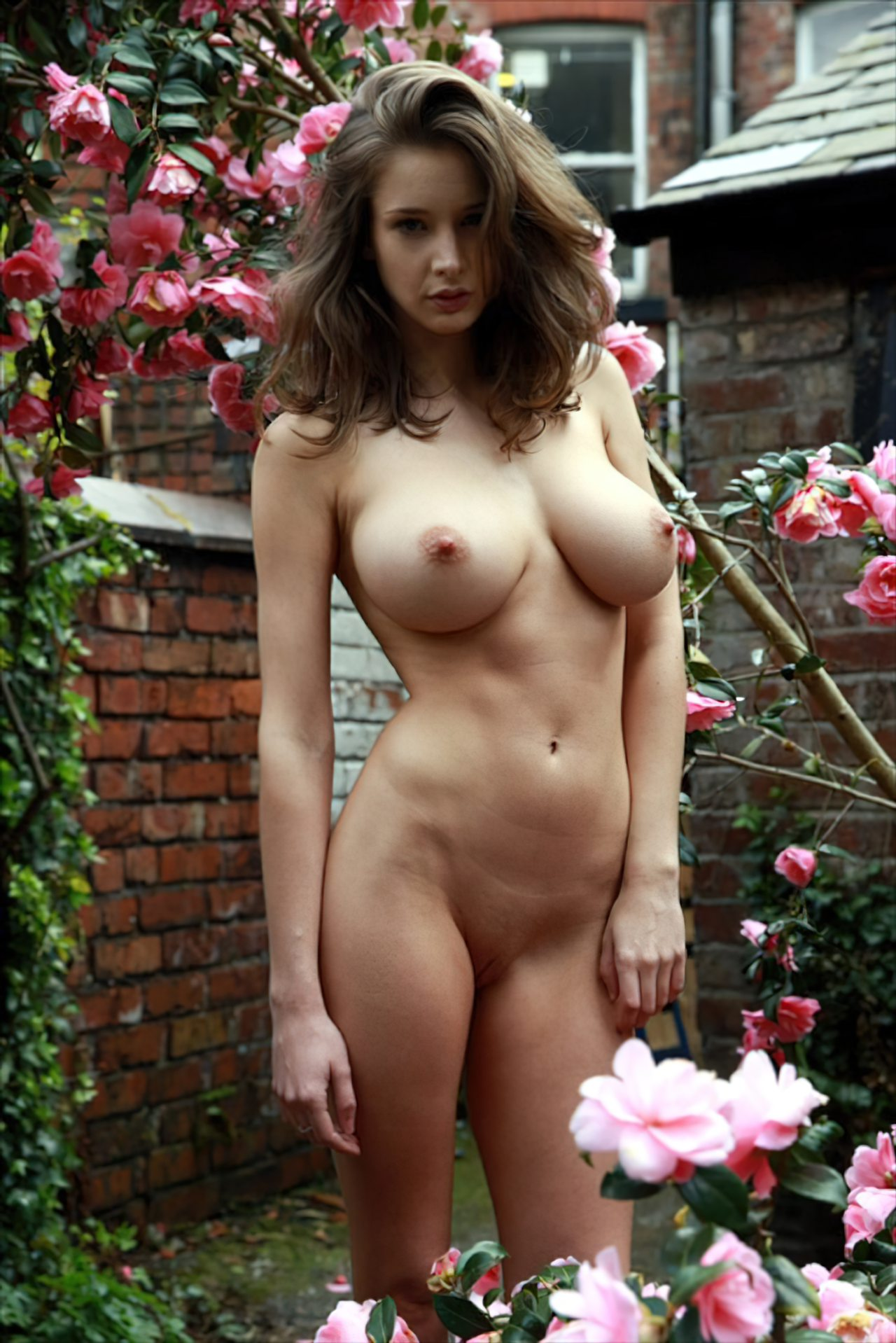 Inglesa Nua no Jardim