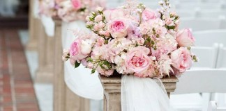 Escolher as flores do casamento