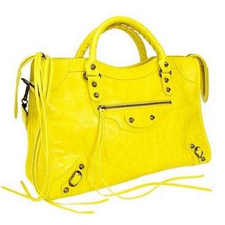 Bolsa amarela inspirações Balenciaga