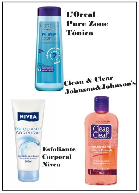cosméticos de farmácia e supermercado