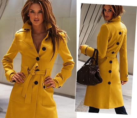Trench Coat Amarelo Alessandra Ambrósio