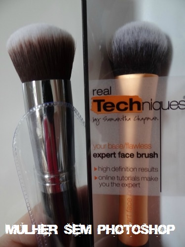 Comparação Face Brush Real Techniques x Sigma F82