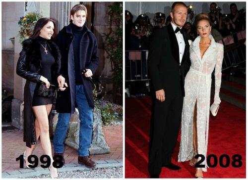Mr. e Ms. Beckham – antes e depois