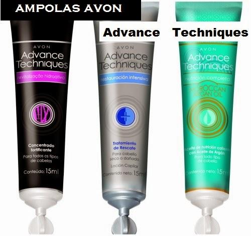 Ampolas da Avon para os cabelos