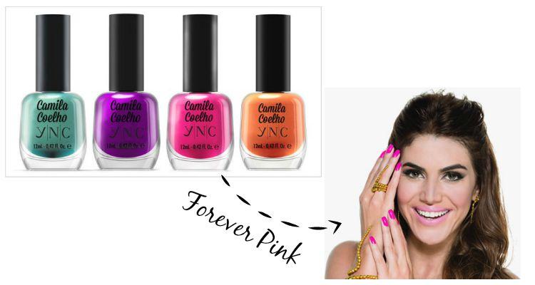 Esmalte Camila Coelho YNC - Yenzah - cor Forever Pink