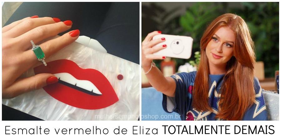 Esmalte vermelho de Eliza Totalmente Demais