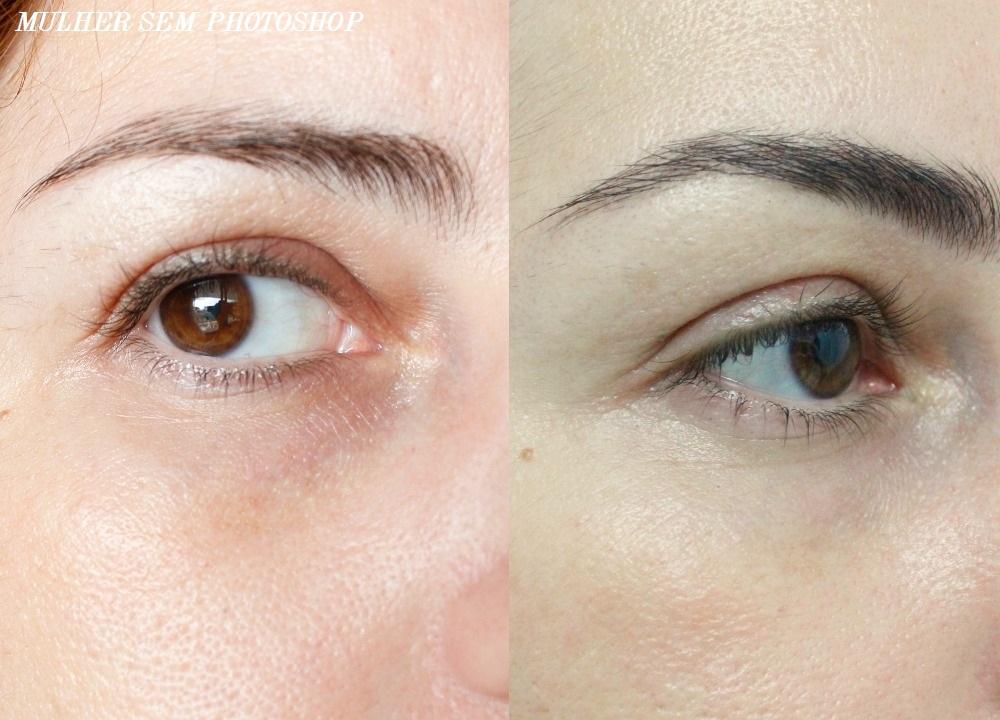 Design de sobrancelhas Pello Menos de Niterói - antes e depois