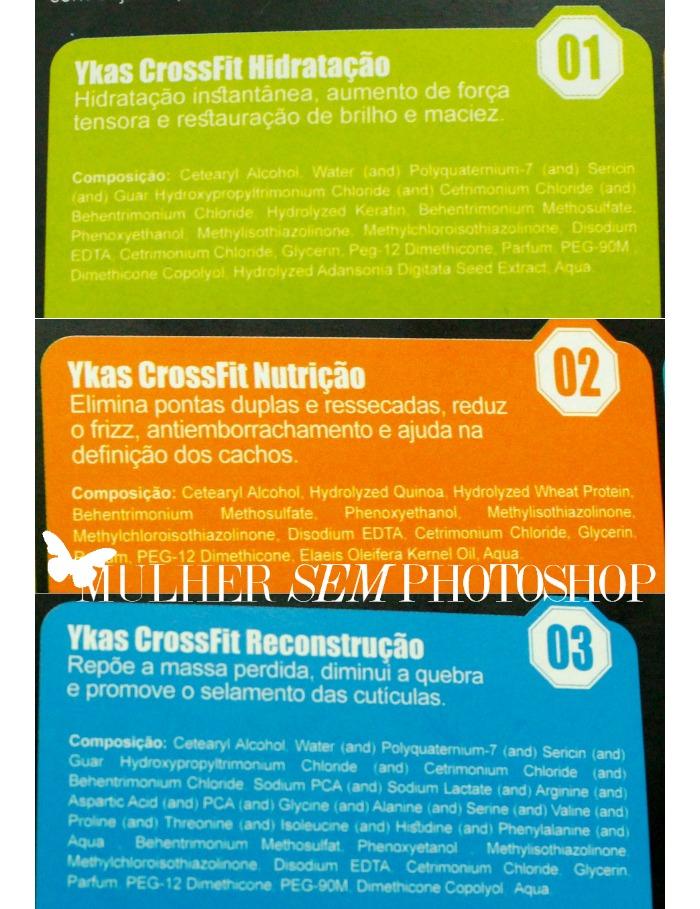 Crossfit Ykas Cosméticos - formulas das máscaras