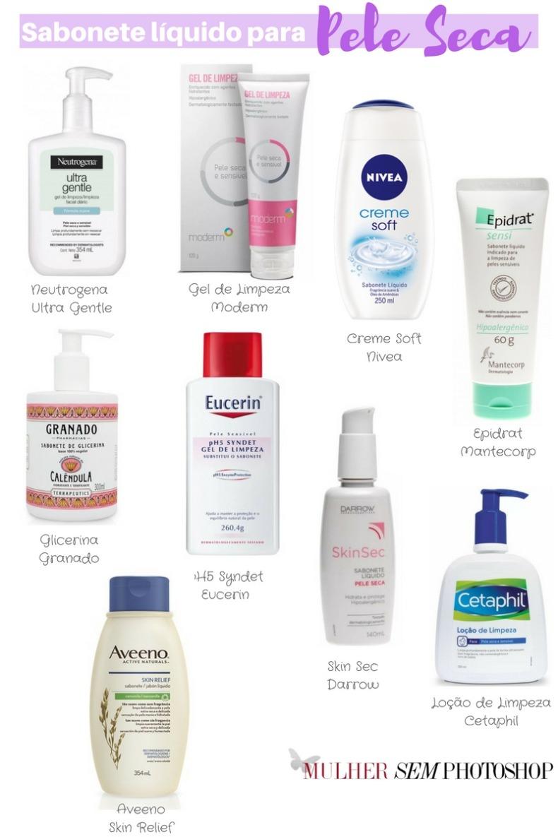 10 sabonetes para pele seca - sabonete líquido pele seca