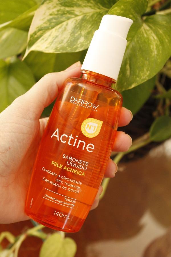 Actine Sabonete Líquido Darrow resenha - pele oleosa e acneica