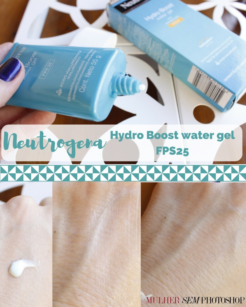 Hydro Boost Neutrogena FPS25 resenha - hidratante para pele oleosa