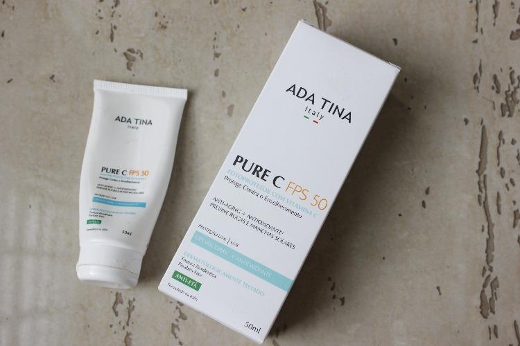 Pure C FPS50 Ada Tina – resenha – vitamina C com protetor solar