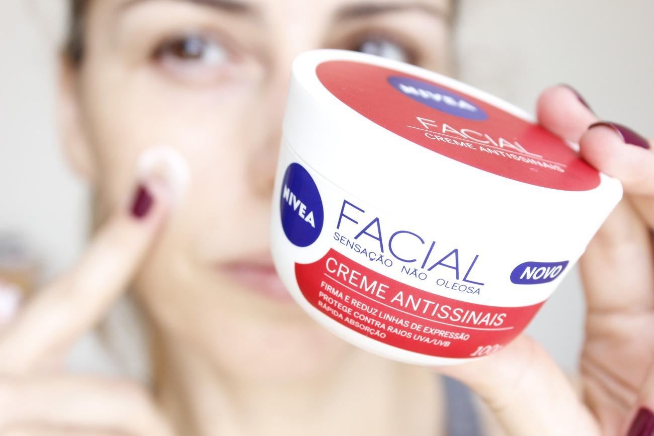 Nivea Facial Creme Antissinais resenha creme hidratante para o rosto