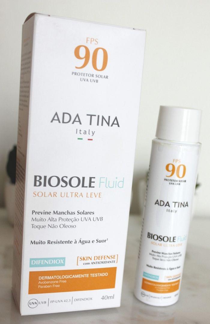 Biosole Fluid FPS90 - Ada Tina - resenha de protetor solar