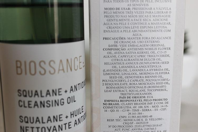 Biossance Cleansing Oil resenha