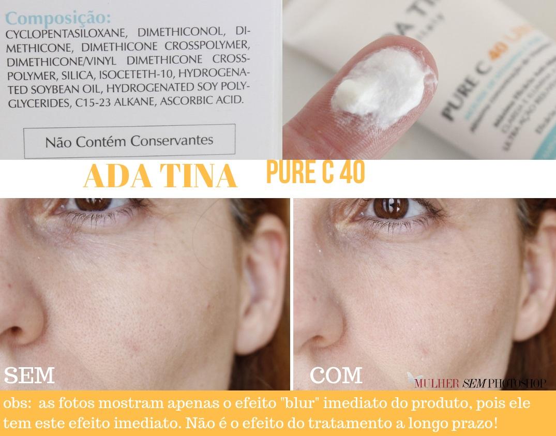 Pure C 40 Ada Tina - vitamina C em mousse - resenha
