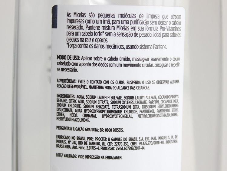 Shampoo Micelar Pantene resenha