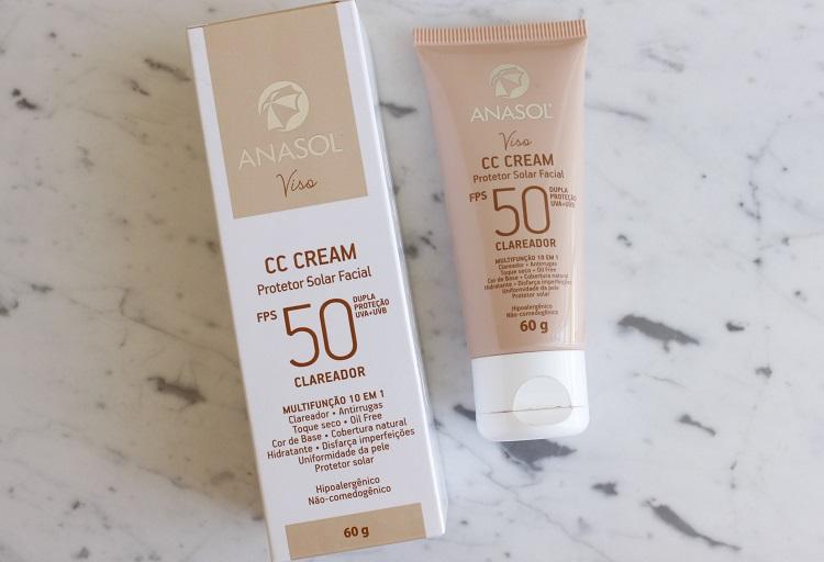 Anasol CC Cream Clareador resenha protetor solar com cor Anasol