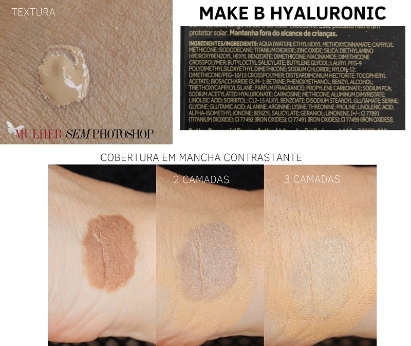 Make B Hyaluronic Boticário resenha base com acido hialuronico