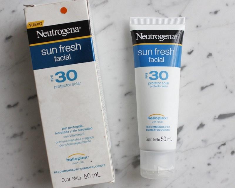 Minha experiência com Neutrogena Sun Fresh Facial FPS30