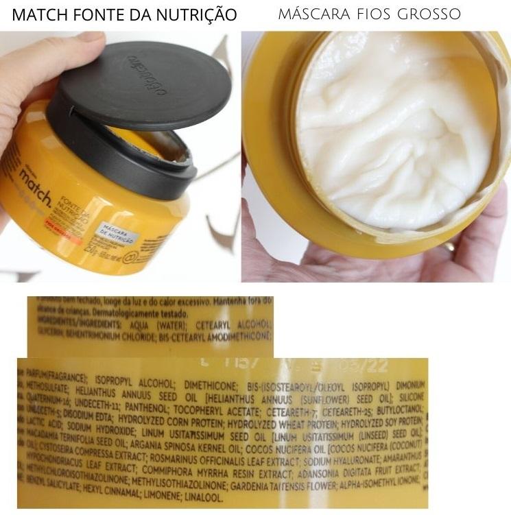 Match Fonte da Nutrição Máscara fios grossos resenha Boticário