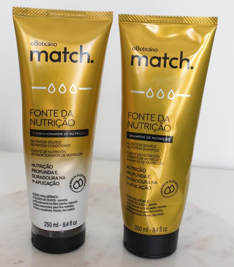 Match Fonte da Nutrição Fios Grossos resenha shampoo e condicionador Boticário
