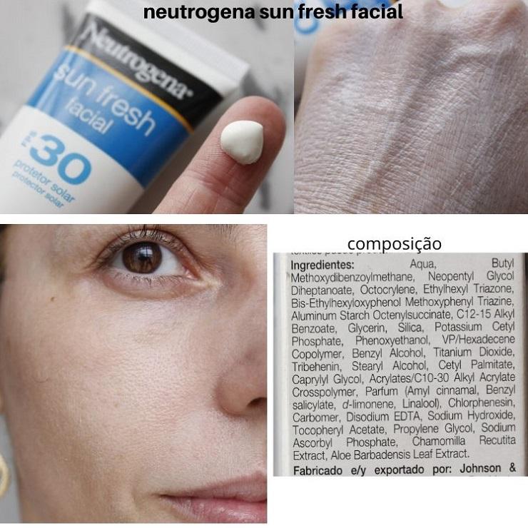 Neutrogena Sun Fresh Facial FPS30 resenha protetor solar