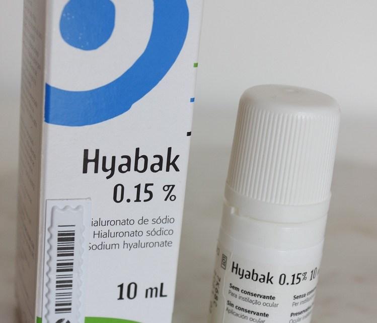 Hyabak – resenha de colírio para olhos secos – Bula