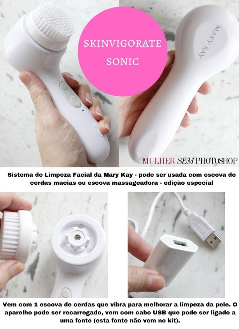 Skinvigorate Sonic Mary Kay resenha da escova de limpeza de pele