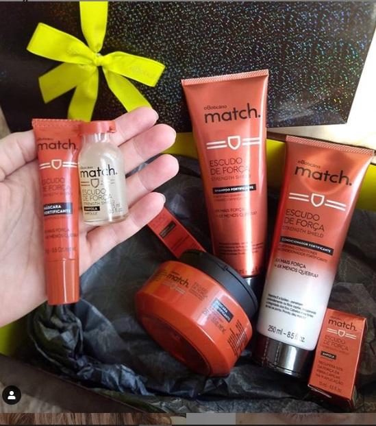 Match Escudo de Força Boticário – resenha de todos os produtos
