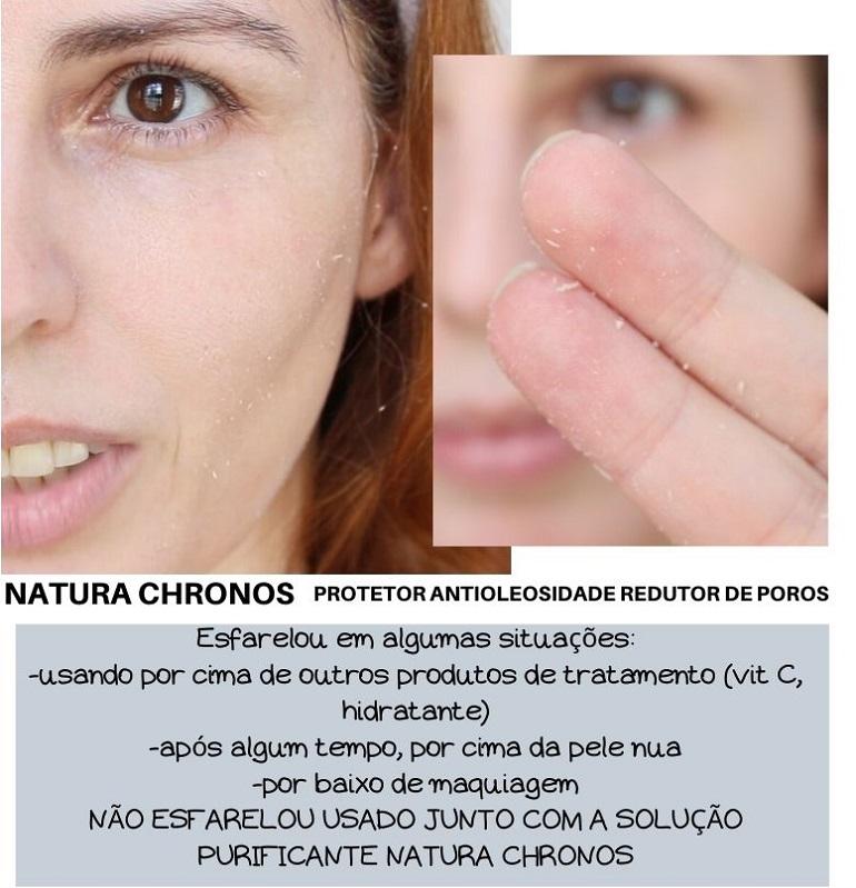 Protetor Antioleosidade Redutor de Poros Natura Chronos resenha