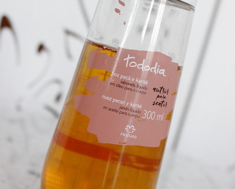 Natura Sabonete Líquido Corporal em óleo Noz Pecã e Karité – resenha