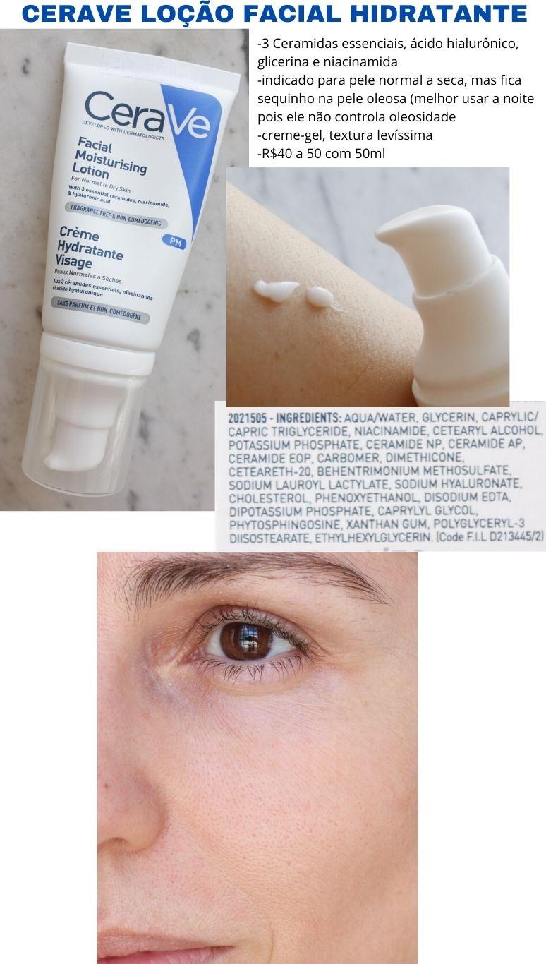Cerave Loção Facial Hidratante - resenha hidratante Cerave para o rosto