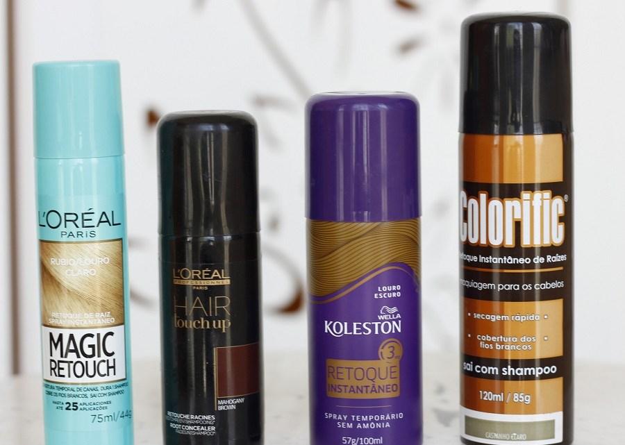4 sprays retoque de raiz – testei e comparei! Veja fotos