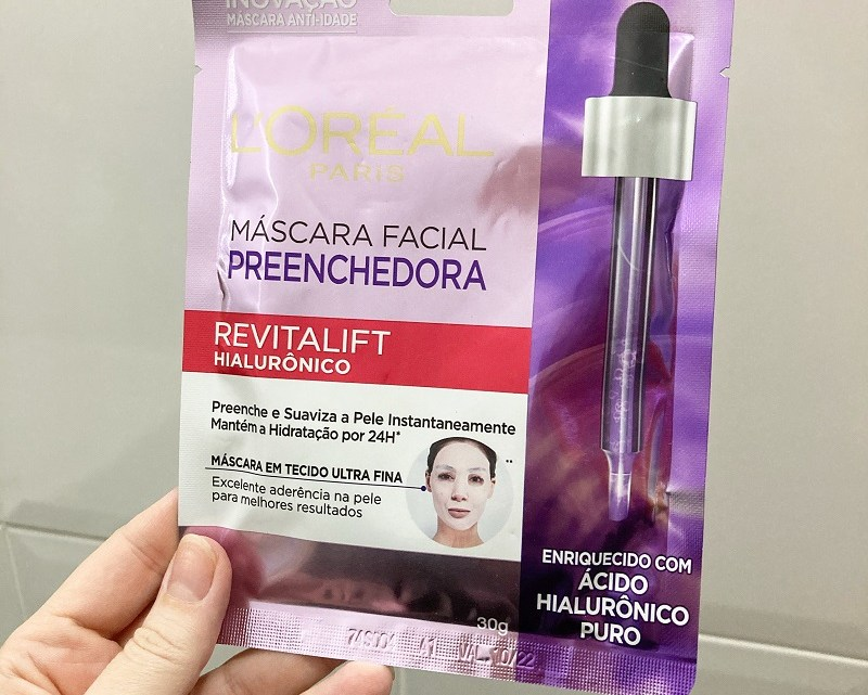 Máscara Facial Preenchedora Revitalift Hialurônico Loreal resenha